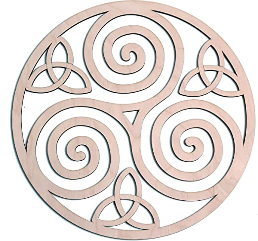 Fourth Level Mfg. Designs Triskele nudo arte de pared de madera ...