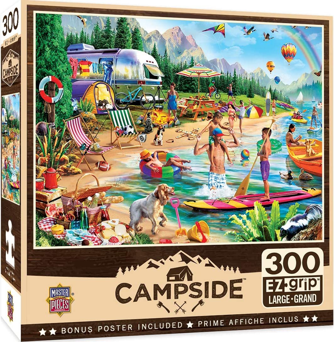 MasterPieces Campside 300 Puzzles Collection - Day at The Lake 300 Piece Jigsaw Puzzle