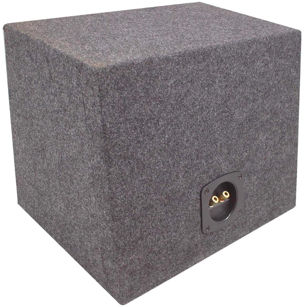 ASC Single 10'' Subwoofer Sealed Universal Fit Rearfire Sub Box Speaker Enclosure