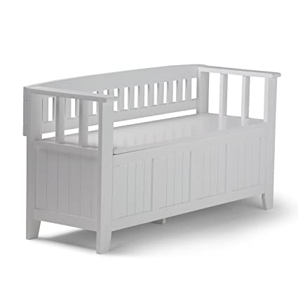 simpli home acadian solid wood entryway bench white white entryway furniture h42 furniture