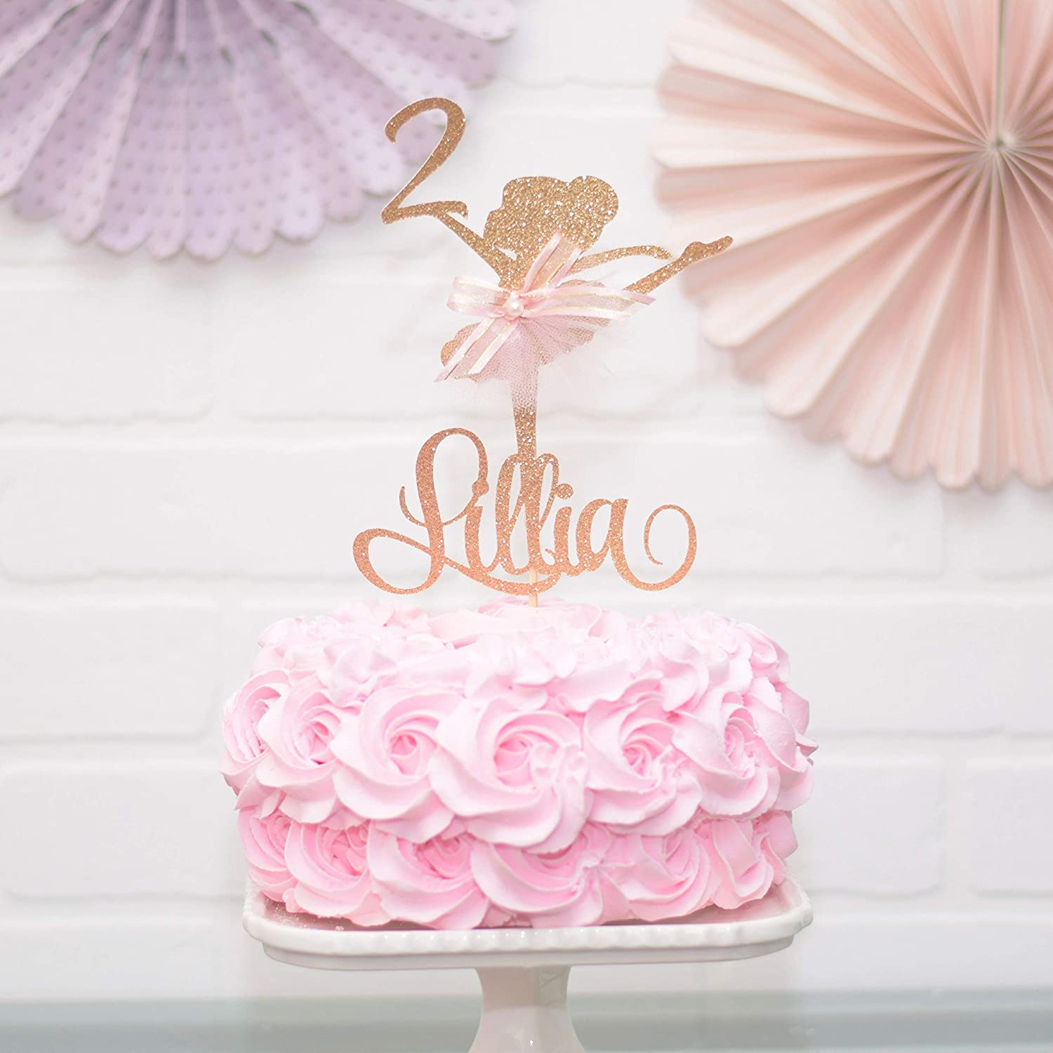 Swell Amazon Com Personalized Ballerina Birthday Party Cake Topper Personalised Birthday Cards Paralily Jamesorg