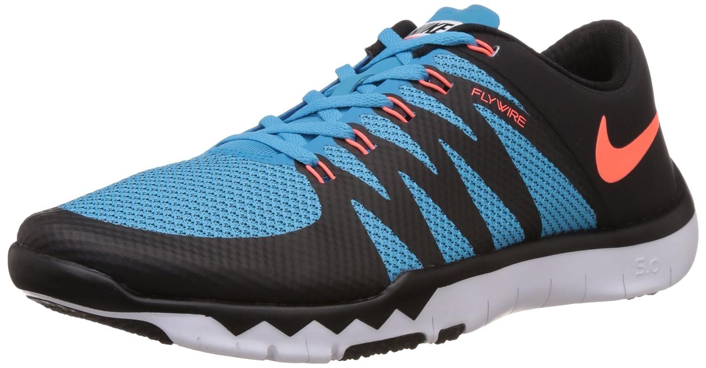 Nike Free Trainer 5.0 V6 Herren Low-Top  40 EU|Azul - Blau (Black/Hypr Orange-bl Lgn-white 084)