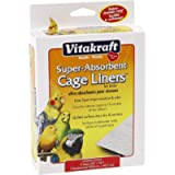 Vitakraft Super-Absorbent Cage Liners for Birds (20' x 18'), 7 Count