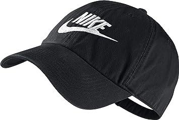 Nike Futura Washed H86-Red Gorra, Hombre, Negro/Blanco, Talla Única: Amazon.es: Deportes y aire libre