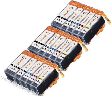 15 x XL Duck Inks Cartuchos de Tinta para Canon 526 CLI-526 PGI ...