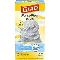 40-Count Glad ForceFlex 13-Gal Tall Kitchen Drawstring Trash Bags