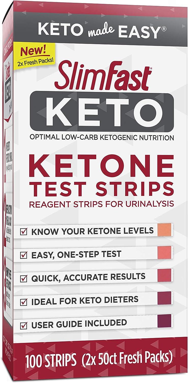 SlimFast Keto Ketone Test Strips -100 Count Box - Pantry Friendly