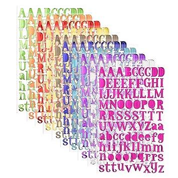 Carta Pegatinas Del Alfabeto Autoadhesivo10 Colores Pegatinas De Letras Alfabeto Para Scrapbooking Manualidades Decoración Adornos Cada Color One