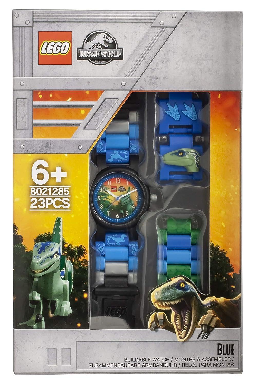 Reloj modificable infantil 8021285 de Jurassic World de LEGO con figurita de Blue: Amazon.es: Relojes