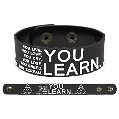 ALANIS MORISSETTE Rubber Bracelet Wristband Jagged Little Pill You Learn
