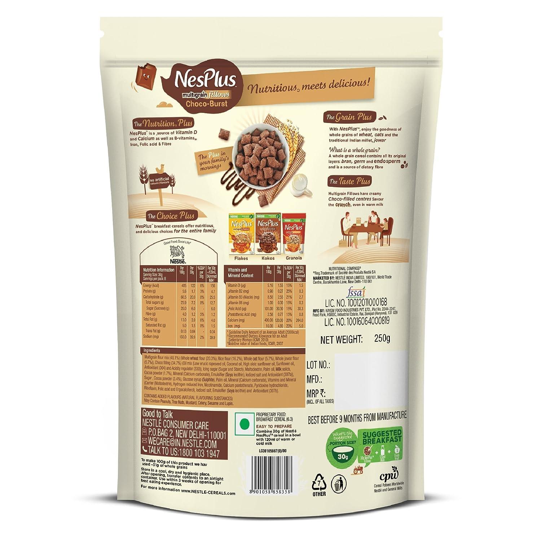 Nestl Nesplus Breakfast Cereal Multigrain Fillows Choco Burst Nestle Koko Krunch 330 Gram 250g Pouch Grocery Gourmet Foods