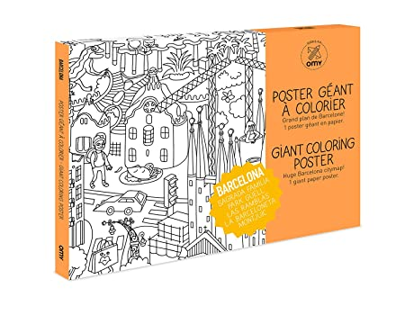 Omy Barcelona Giant Colouring Poster Paper Multi Colour Medium