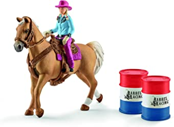 Schleich 41417 - Barrel Racing avec Cowgirl