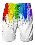 Alistyle Mens 3D Rainbow Ink Print Summer Beach
