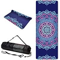 TPE Yoga Mat Eco Friendly Non Slip Yoga Mats with Carrying Strap and Bag 183X61cm Extra Thick 6mm Exercise & Workout Mat for Yoga Pilates Home Fitness