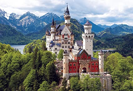 Storybook style homes, Neuschwanstein castle in Germany, Disney's inspiration for Sleeping Beauty
