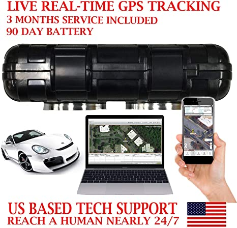 PRE-Activated SIM Card with 3 Months Service Included!! AES RGT90B GPS Tracker GPRS Magnetic Vehicle Locator Tracking Device Rechargeable 90 Day Battery AES Spy Cameras Waterproof Magnetic Case