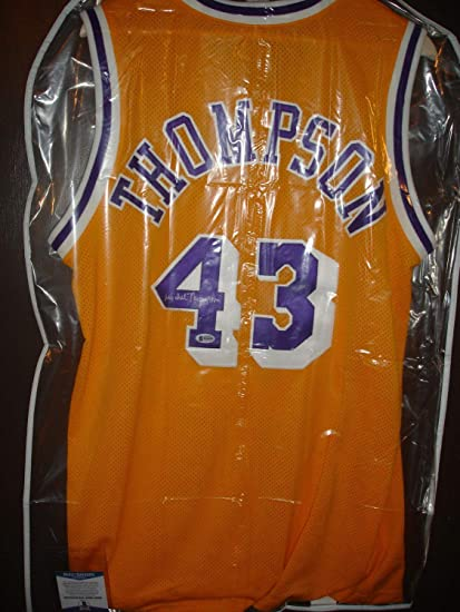 e7d98e911726 Image Unavailable. Image not available for. Color  Michael Thompson Beckett  Certified Autographed Signed Lakers Jersey Hof