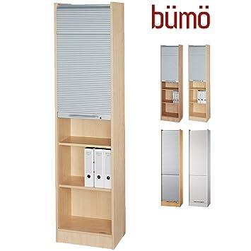 Bümö® Aktenschrank mit Rollladen | Rollladenschrank für Aktenordner ...