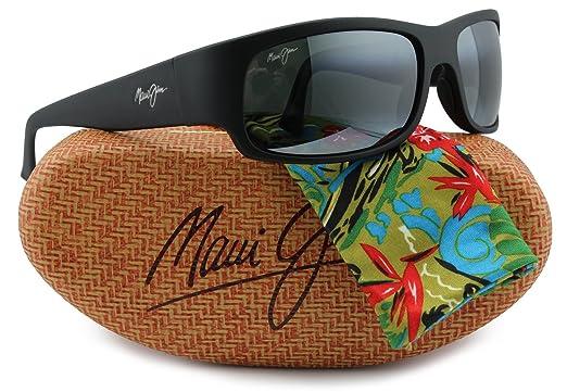 bc1aae55f0c Amazon.com  Maui Jim MJ-222-2M Longboard Sunglasses Matte Black w  Neutral  Grey 222-2M 61mm Authentic  Clothing