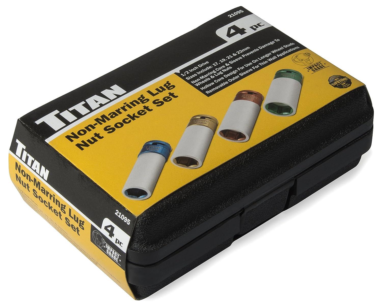 Titan Tools 21093 21mm 1//2 Drive Non-Marring Deep Lug Nut Socket