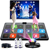 Dance Mat Games for TV - HDMI Wireless Musical Electronic Dance Mats with HD Camera, FWFX Double User Exercise Fitness Non-Sl