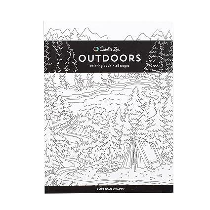 Amazon Com American Crafts 375322 Outdoors Creative Zen Coloring