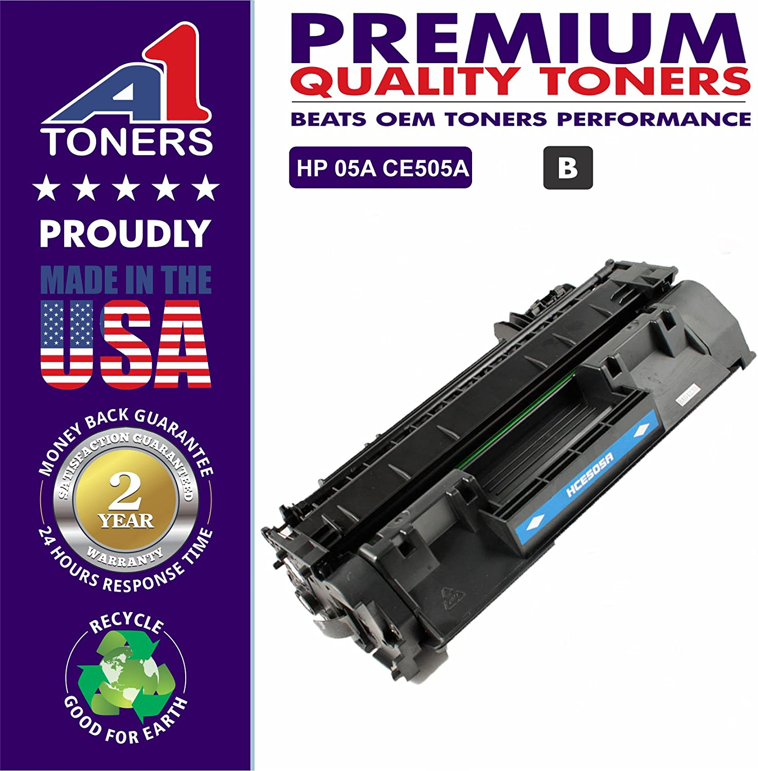 A1 Toners Compatible Toner Cartridge Replacement for HP 05A ( Black )