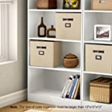 """Lifewit Polyester 13"""" Cube Storage Bins with"""