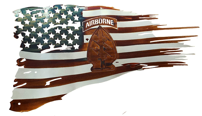 Metal Worx Inc >> Amazon Com Metal American Battle Flag With 1st Sfc Patch