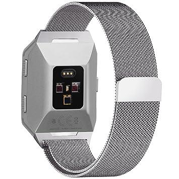 Fullmosa Compatible Bracelet Fitbit Ionic Milanese, Compatible Fitbit Ionic Bracelet Homme/Femme Montre Connectée