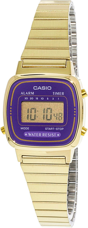 CASIO Reloj con Correa de Acero Inoxidable LA-670WGA-6: Casio: Amazon.es: Relojes