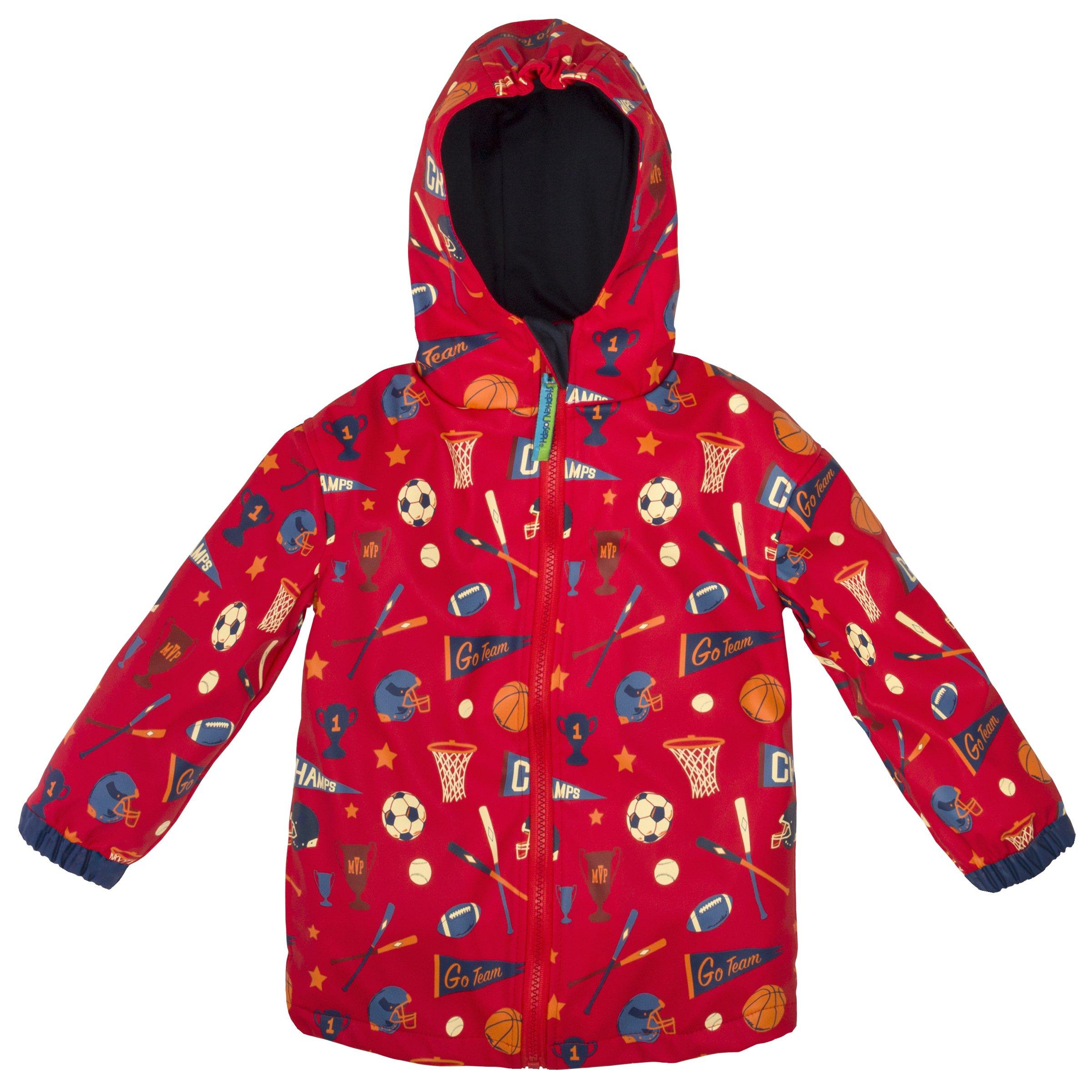 Stephen Joseph Boys' All Over Print Raincoat, Sports, 6/6X