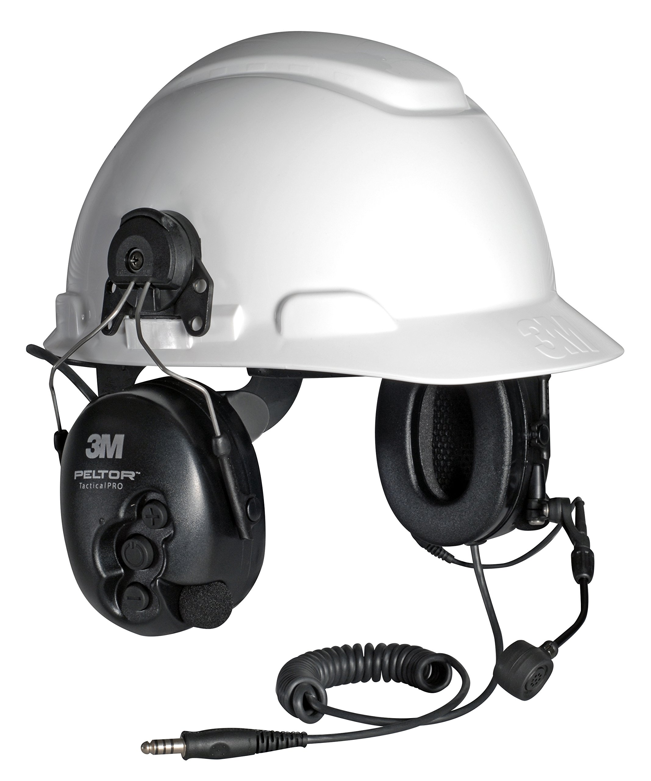 3M Peltor MT15H7P3E SV Tactical Pro Listen-Only Hard Hat Mount, Hearing Protection, Ear Protection, NRR 22 dB, Ideal for gun ranges, forklift drivers, airport ground personnel, and maintenance mechanics
