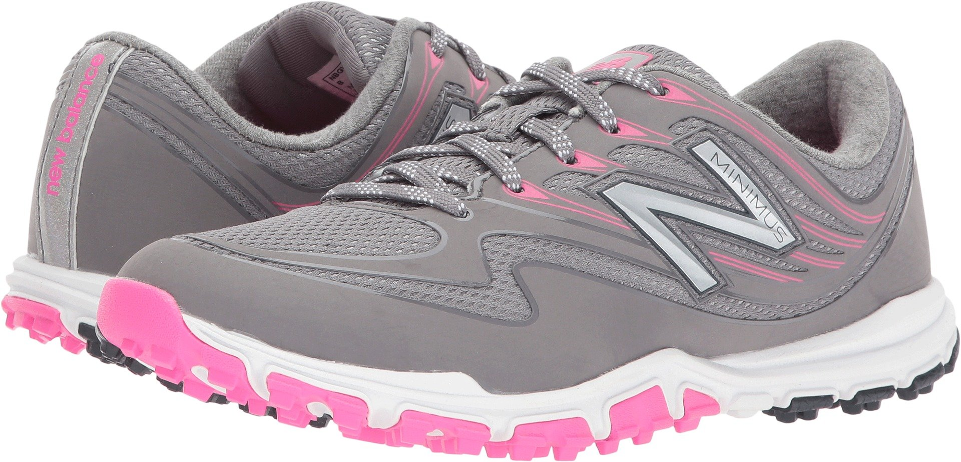 New Balance Women's Minimus Sport Golf Shoe, Pink/Grey, 8.5 B B US