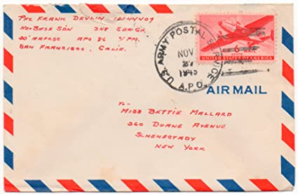 Amazon.: US Army Air Mail Letter 1945 Two Page Letter From