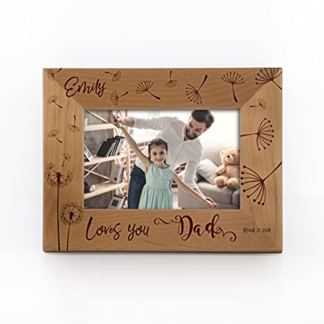 Amazoncom Personalized Picture Frame For Dad Father Grandpa Papa