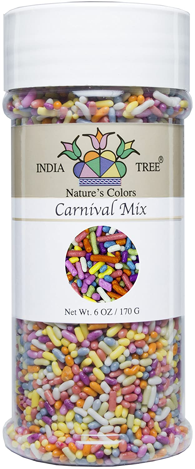India Tree Nature\'s Colors Carnival Sprinkles, 6 Ounce