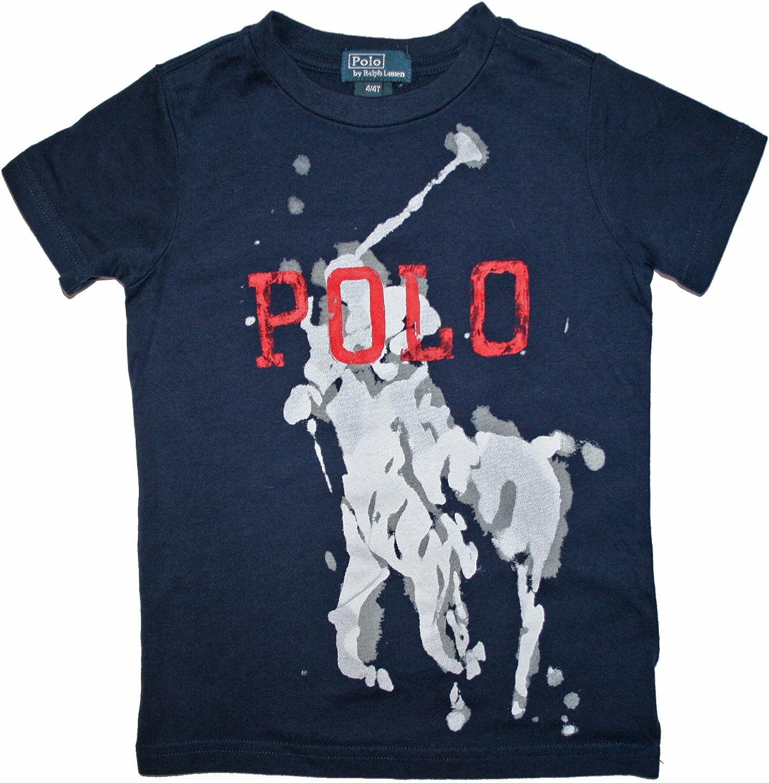 Ralph Lauren Niños Camiseta de polo Jinete Big Pony Print Joven Azul Oscuro * 122: Amazon.es: Bebé