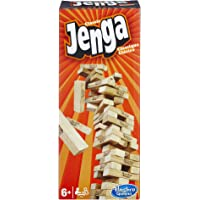 Hasbro Jenga Classic, children's game that promotes the speed of reaction, 2+ Game Players, 54 hardwood JENGA blocks