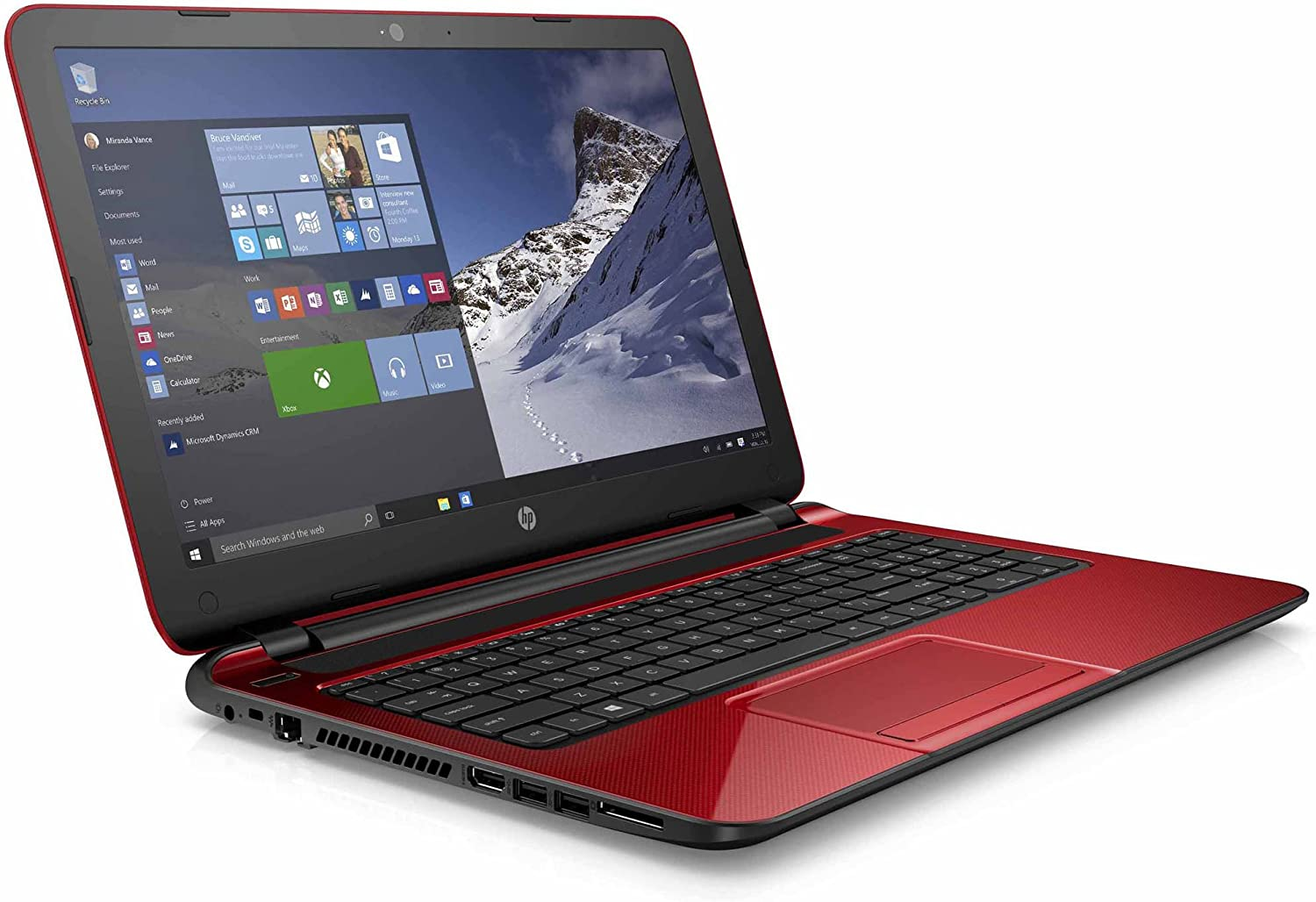 HP Flyer Red 15.6 Inch Laptop (Intel Pentium Quad-Core N3540 Processor up to 2.66GHz, 4GB RAM, 500GB Hard Drive, DVD Drive, HD Webcam, Windows 10 Home) (Renewed)