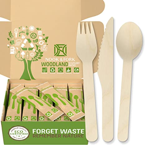 25 SPORK DISPOSABLE PARTY WOODEN CUTLERY PACK WOODEN ECO PICNIC CATERING