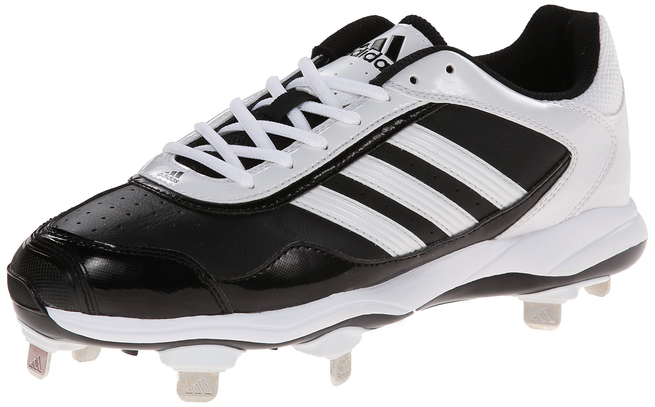 adidas Performance Women's Abbott Pro Metal 2 Softball Cleat, Core Black/Running White/Black 1, 8.5 M US
