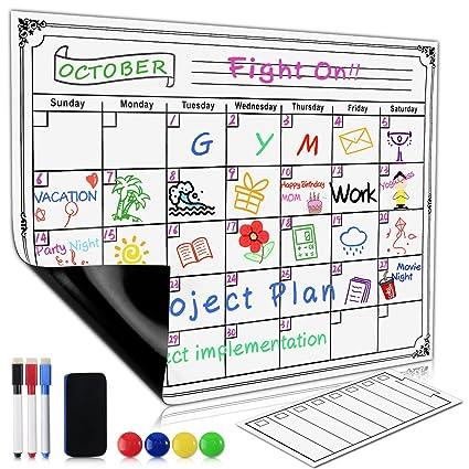 Amazon Com Magnetic Refrigerator Memo Calendar Family Monthly To