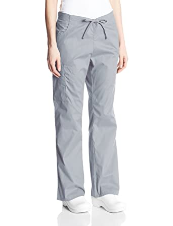 9aa63f8264d Dickies Women's EDS Signature Mid Rise Drawstring Cargo Pant, Grey XX-Small  Petite