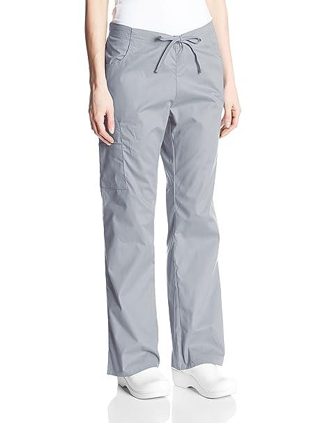 60ee28b8d87 Dickies Women's Signature Mid Rise Drawstring Scrubs Cargo Pant, Grey,  XX-Small Petite
