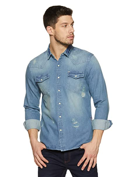 ac07a3535c Amazon Brand - Inkast Denim Co. Men s Solid Slim Fit Casual Shirt  Amazon.in   Clothing   Accessories