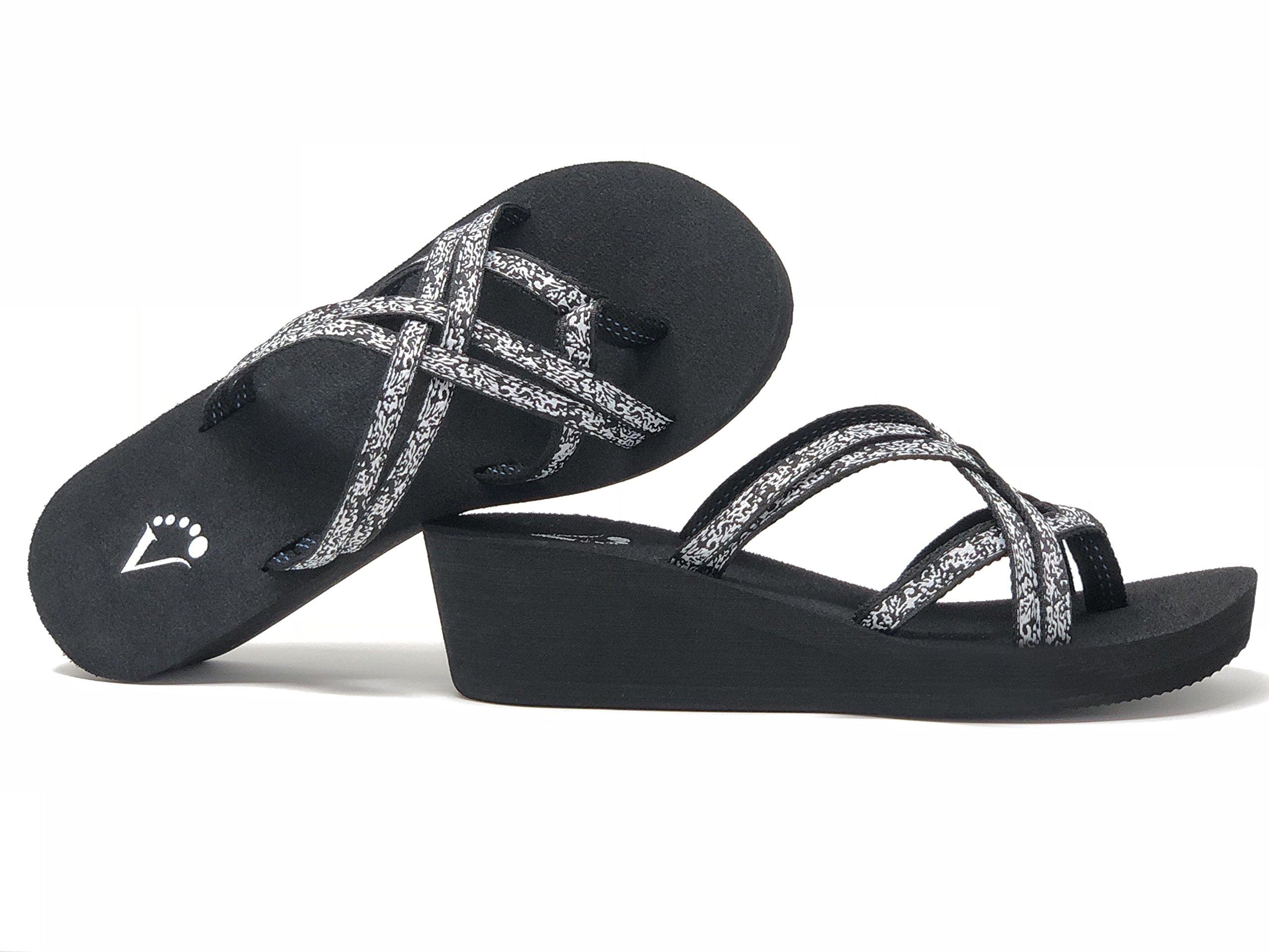 Viakix Wedge Flip Flops for Women – Comfortable, Stylish, Cute, Women's Strappy Sandal for Walking, Beach, Travel by Viakix (Image #8)