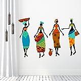 DeStudio 'African Women with Two Pot' Wall Sticker (PVC Vinyl, 120 cm x 80 cm)