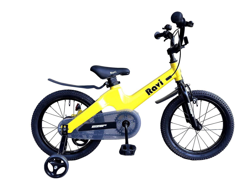 Eizer(アイゼル) 【子供用自転車】 おしゃれでカッコいいドイツデザイン超軽量マグネシウム合金7㎏台~ キッズジュニア用自転車Raviラビ14インチ カラーバリエーション Ravi14 イエロー 14インチ   B07HQQ37ZB